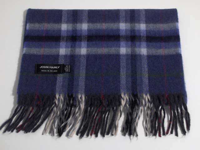 Merino wool Irish tartan scarf J.Hanly 05