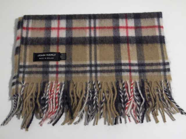 Merino wool Irish tartan scarf J.Hanly 02