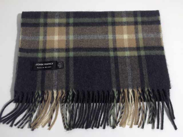 Merino wool Irish tartan scarf J.Hanly 01