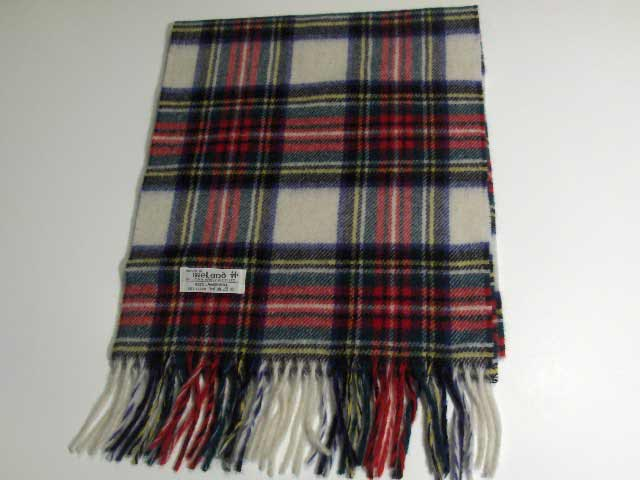 John Hanly Lambswool Irish tartan scarf 12