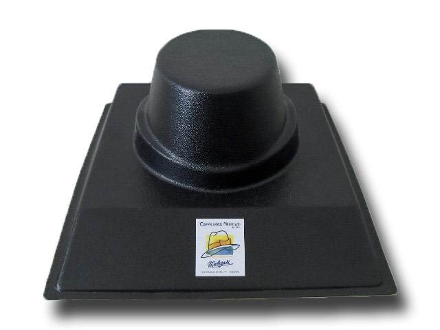Plastic cone, support hat rest