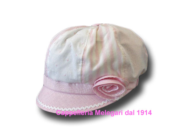 Summer linen cap for girls