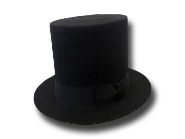 Top hat 19 cm large brim on choise hand made