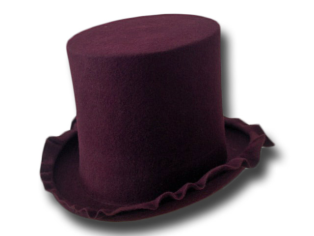 Artistic Wool felt Top Hat 19 cm