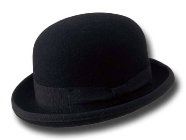B2B Bowler hat black wool felt Pack 24 pcs