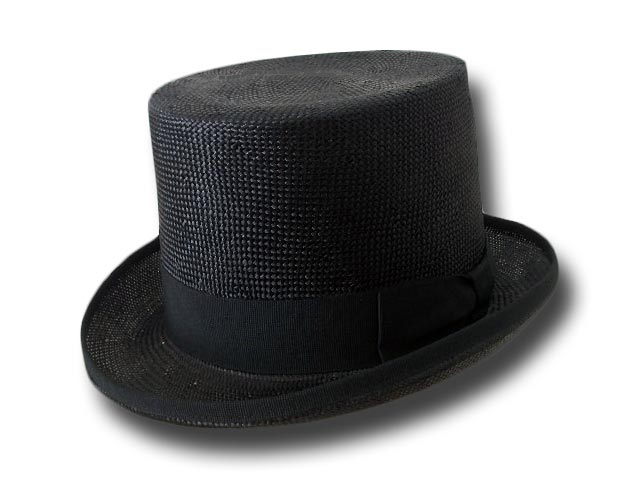 Melegari Straw Top Hat black