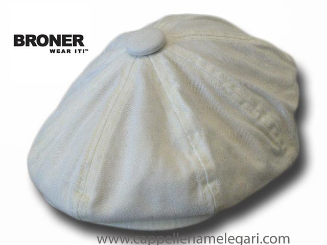 Broner Hat Gatsby 8 pieces cotton stone washed cap White
