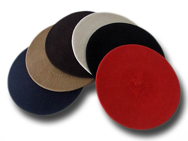 Beret unisex cotton by Melegari Many colors
