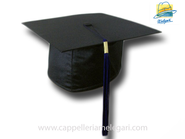 College Grad Hat Mortarboard Blue