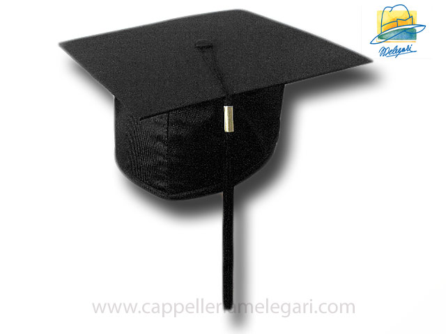 College Grad Hat Mortarboard Black