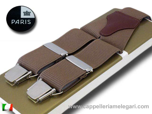 Paris Suspenders wide men Light brown