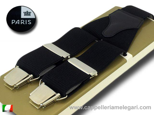 Paris Suspenders wide men Black
