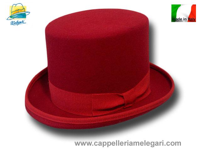 Cappello a cilindro rosso in feltro di lana  cilindro-rosso  45.00 ... 6a757d205714