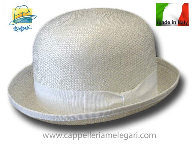Viscose fiber bowler hat White