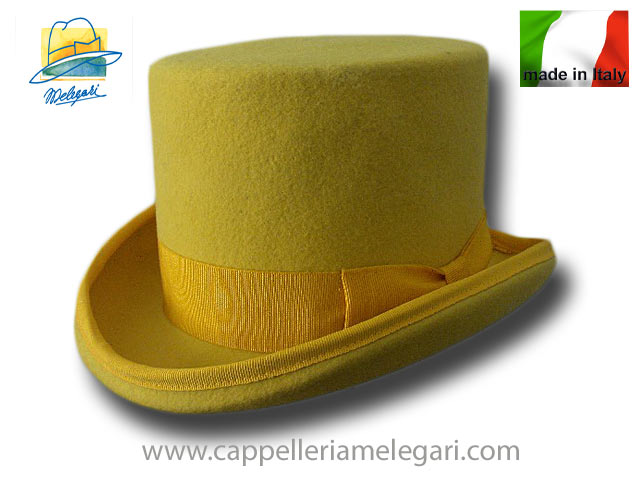 Yellow Wool Felt Top Hat