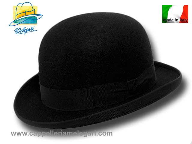 Top quality fur felt bowler hat Black