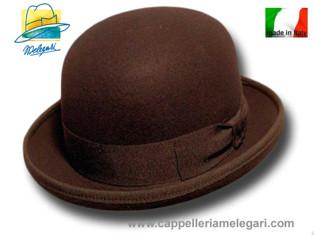 Melegari wool felt Bowler hat Brown