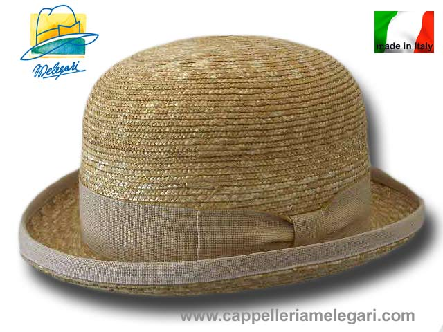 Natural straw Bowler Hat