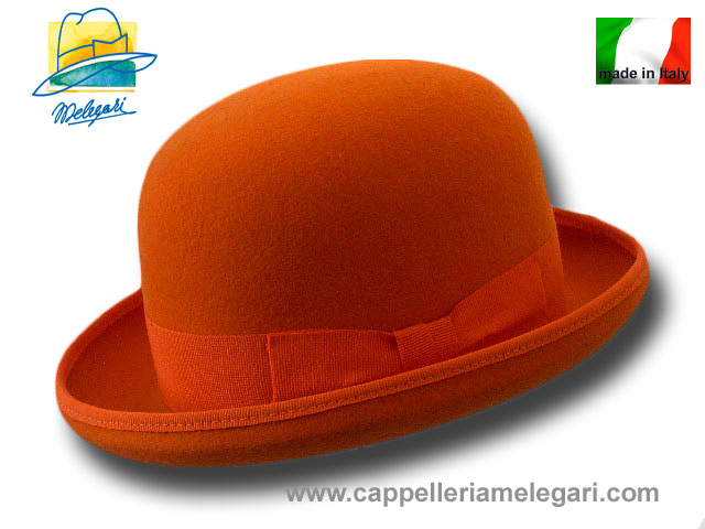 Melegari wool felt Bowler hat Orange