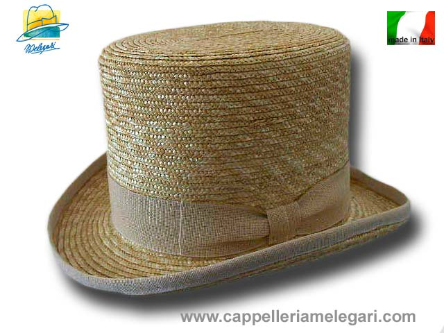 Melegari Natural straw Top Hat