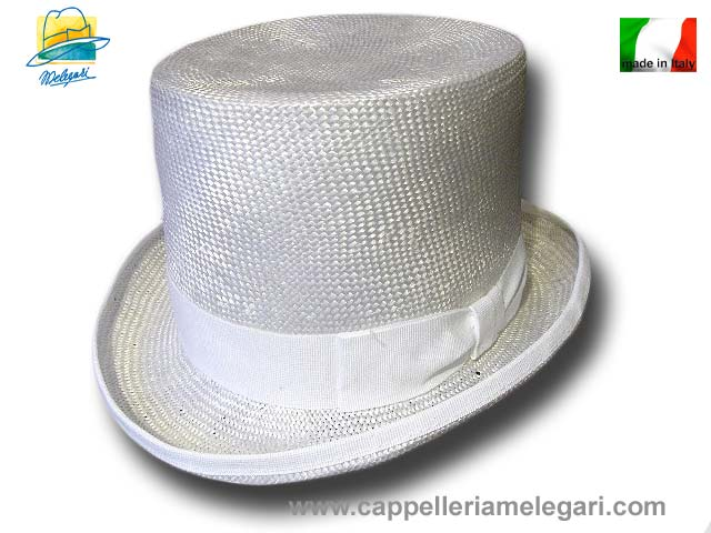 White straw top hat