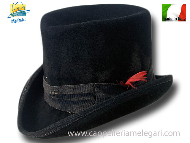 Dandy Western Aged top hat Black