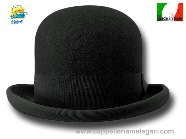 Magritte bowler hat in fur felt