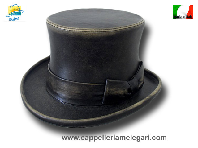Top Hat 15 cm real leather