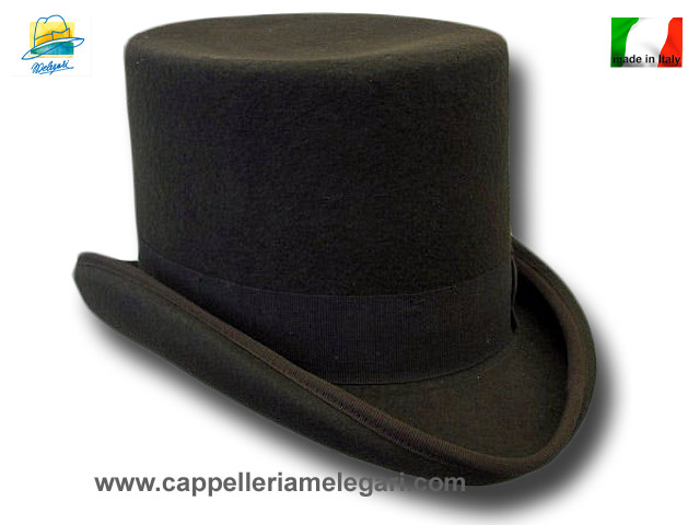 Melegari Western Top Hat Brown