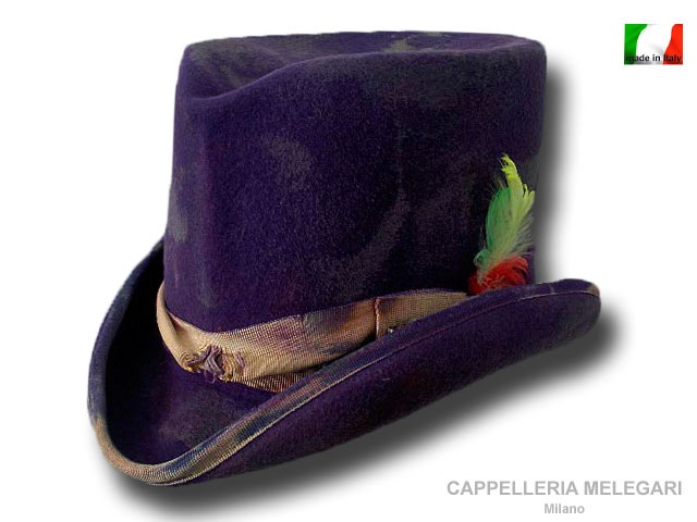 Dandy Western Aged top hat Violet