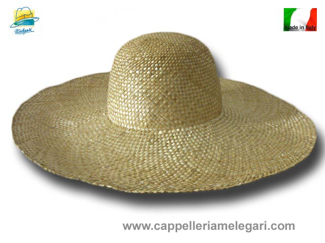 Hats woman wheat straw 16 cm large brim Taormi