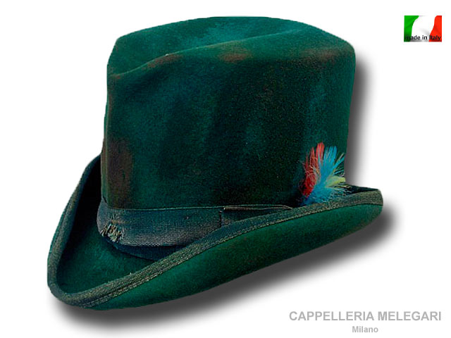 Cappello a cilindro Dandy Aged Western Verde