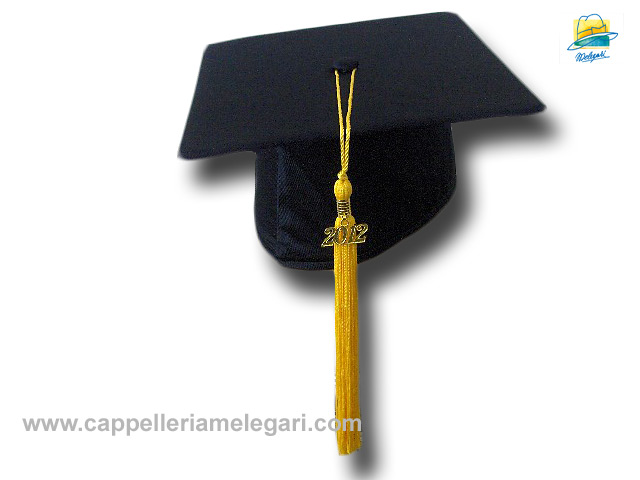 Basic Grad Hat Mortarboard yellow