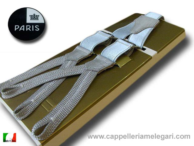 Braces man with slots tight satin Paris Light