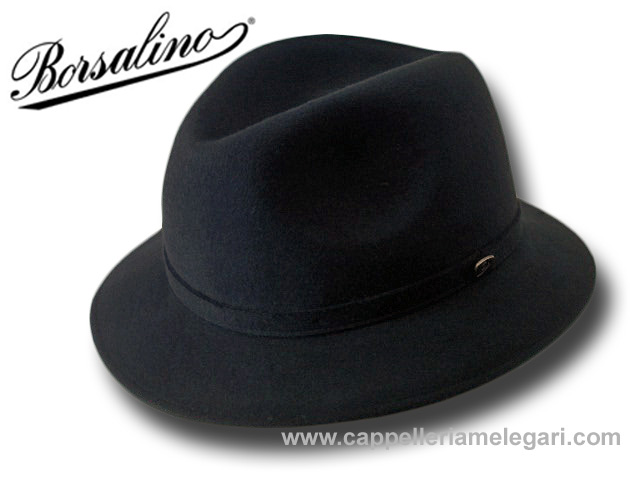 Cappello Borsalino Trilby Traveller Alessandria grigio scuro. Cappello da  viaggio Borsalino in ... 4693c3aba92d