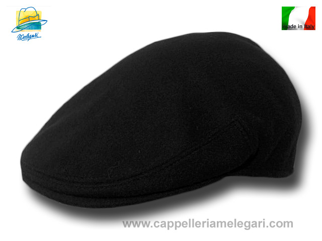 Wool and cashmere Milano flat cap Black