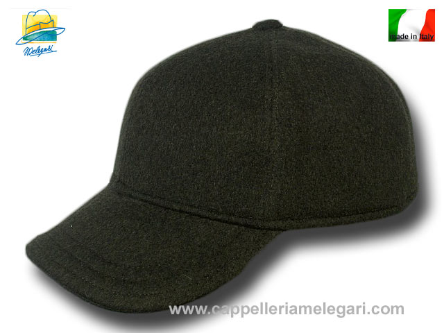Wool cashmere pocket Baseball Cap Dark Green