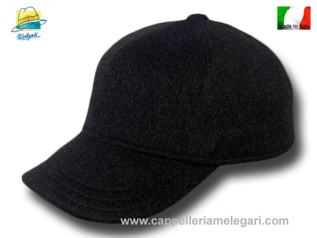 Berretto Baseball lana cashmere tascabile grigio scuro  8c4fbfa0f52d