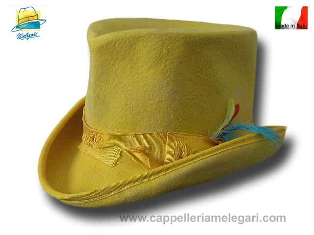 Cappello a cilindro Dandy Aged Western Giallo