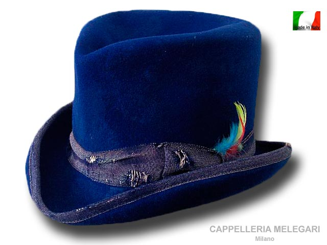 Cappello a cilindro Dandy Aged Western Blu roy