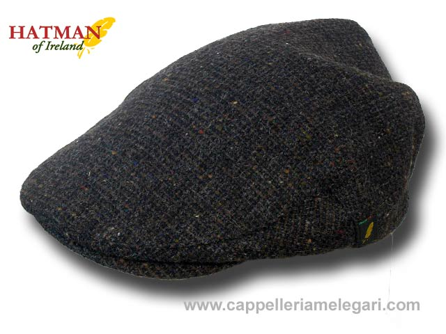 Berretto donegal tweed piatto Gerry Hatman of