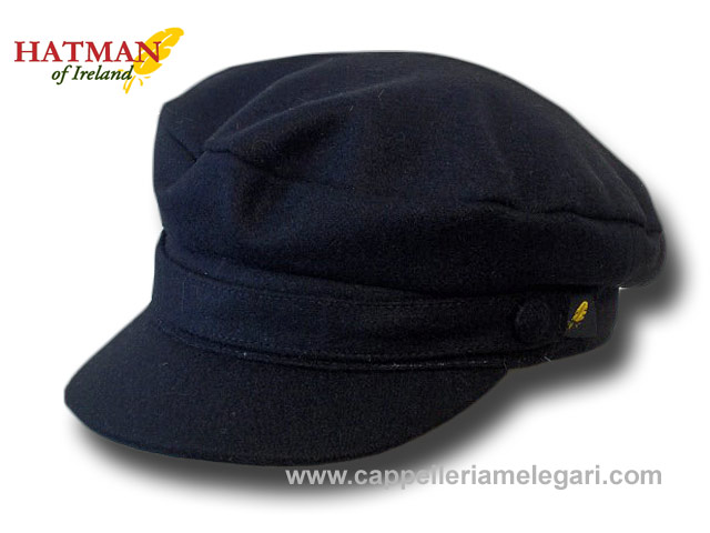 Hatman of Ireland Berretto marinaio panno skipper Melton Blu