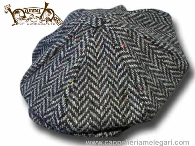 Hanna Hats Casquette de tweed Herringbone 8 pi