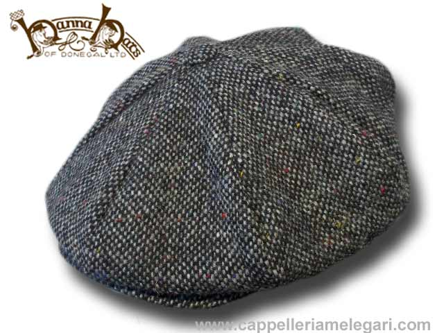 Berretto irlandese 8 spicchi Hanna Hats Connery tweed Cap