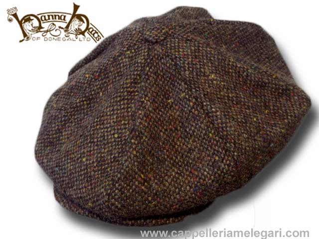 Casquette Hanna Hats Connery Gatsby tweed Malo