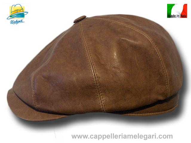 New York Gatsby cap real leather