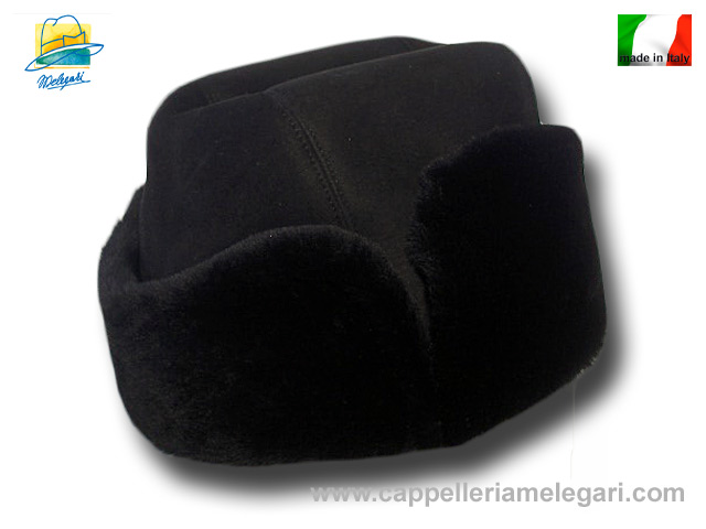 Melegari kolbac sheepskin hat Black
