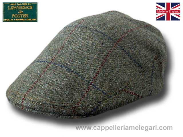 Lawrence & Foster Berretto piatto tweed Ingles