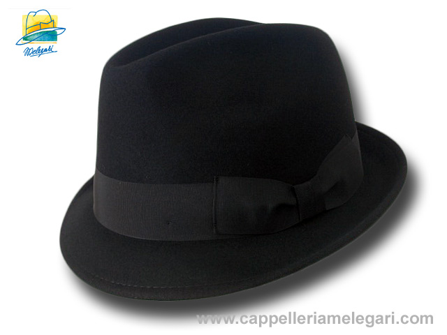 Cappello Trilby Basic Blues Brothers hat Nero