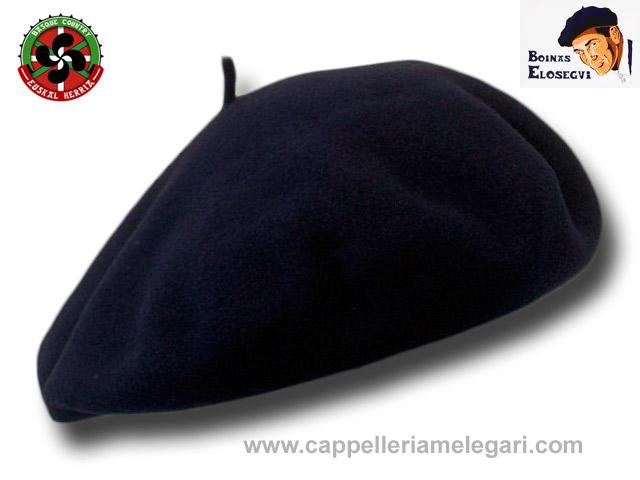Scarpe 2018 prezzo ridotto nuova collezione Elosegui Berretto basco uomo Qualità Fina 28 cm Euskadi Blu ...